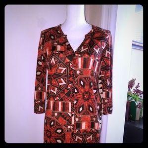 Tribal print button up maxi dress